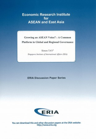 Growing an ASEAN Voice?: A Common Platform in Global and Regional Governance