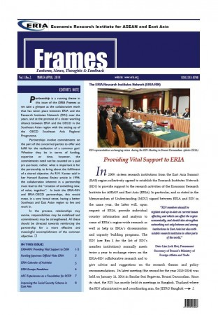 "ERIA official newsletter ""ERIA FRAMES"" (March - April 2014 Issue) released"