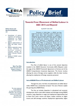 Towards Freer Movement of Skilled Labour in AEC 2015 and Beyond