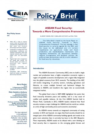 ASEAN Food Security: Towards a More Comprehensive Framework