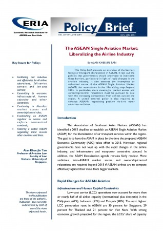 The ASEAN Single Aviation Market: Liberalizing the Airline Industry