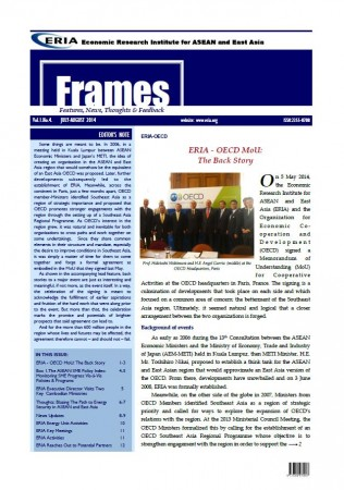 "ERIA official newsletter ""ERIA FRAMES"" (July - August 2014 Issue) released"