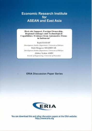 Host-site Support, Foreign Ownership, Regional Linkages and Technological Capabilities: Evidence from Automotive Firms in Indonesia