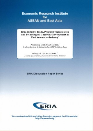 Intra-industry Trade, Product Fragmentation and Technological Capability Development in Thai Automotive Industry