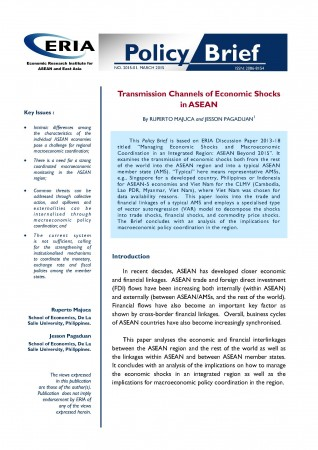 Transmission Channels of Economic Shocks in ASEAN