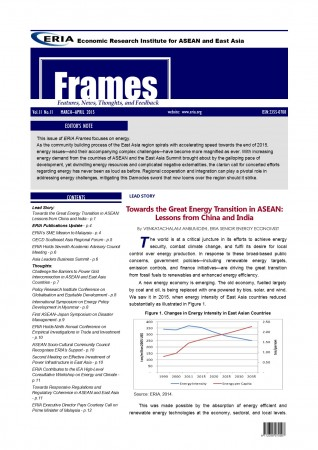 "ERIA official newsletter ""ERIA FRAMES"" (March - April 2015 Issue) released"