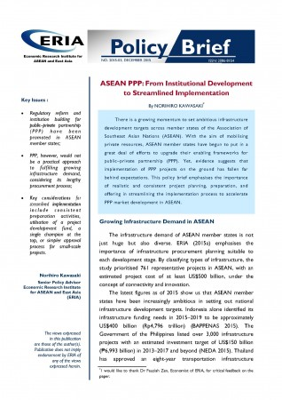 ASEAN PPP: From Institutional Development to Streamlined Implementation