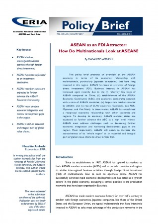 ASEAN as an FDI Attractor:  How Do Multinationals Look at ASEAN?