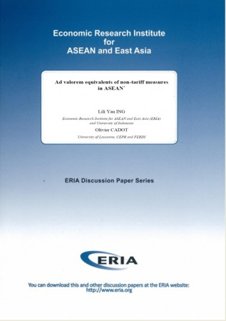 Ad valorem equivalents of non-tariff measures in ASEAN