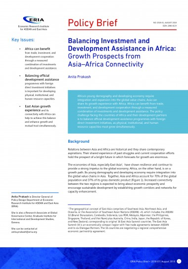 Balancing Investment and Development Assistance in Africa: Growth Prospects from Asia–Africa Connectivity