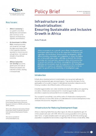 Infrastructure and Industrialisation: Ensuring Sustainable and Inclusive Growth in Africa