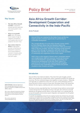 Asia Africa Growth Corridor: Development Cooperation and Connectivity in the Indo-Pacific