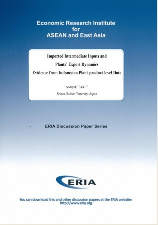 Imported Intermediate Inputs and Plants' Export Dynamics Evidence from Indonesian Plant-product-level Data