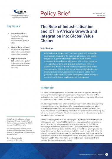 The Role of Industrialisation and ICT in Africa's Growth and Integration into Global Value Chains