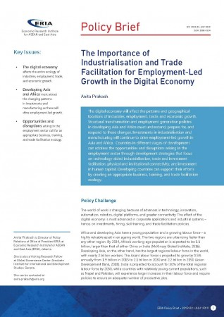 The Importance of Industrialisation and Trade Facilitation for Employment-Led Growth in the Digital Economy