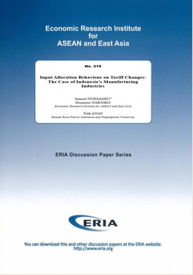 Input Allocation Behaviour on Tariff Changes: The Case of Indonesia's Manufacturing Industries
