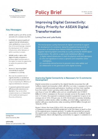 Improving Digital Connectivity: Policy Priority for ASEAN Digital Transformation