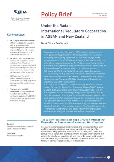 Under the Radar: International Regulatory Cooperation in ASEAN and New Zealand